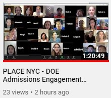 June 4 Admissions Engagement with DOE Leadership