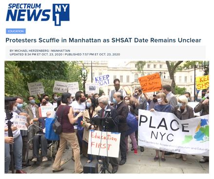 Protesters Scuffle in Manhattan as SHSAT Date Remains Unclear