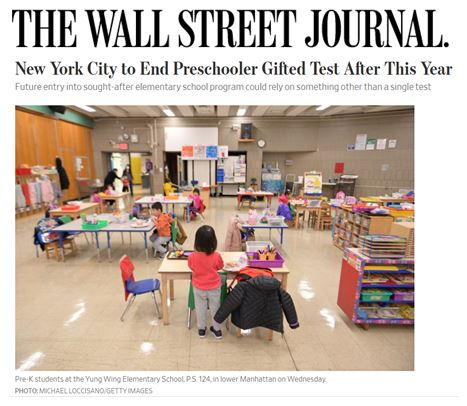 New York City to End Preschooler Gifted Test After This Year