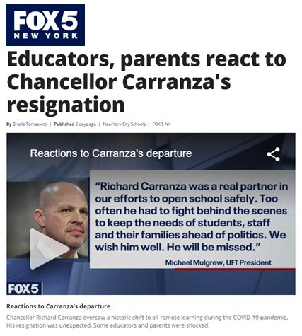 Educators, parents react to Chancellor Carranza's resignation
