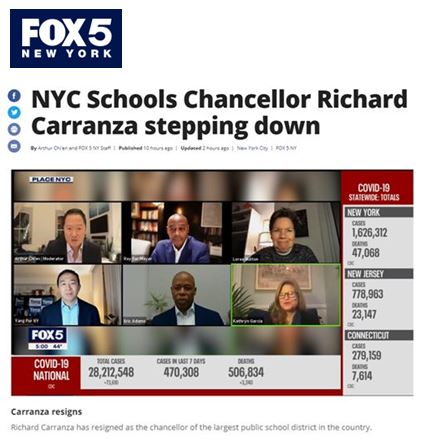 NYC Schools Chancellor Richard Carranza stepping down